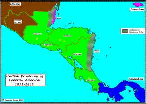 map of united states and central america united provinces of central america the wiki