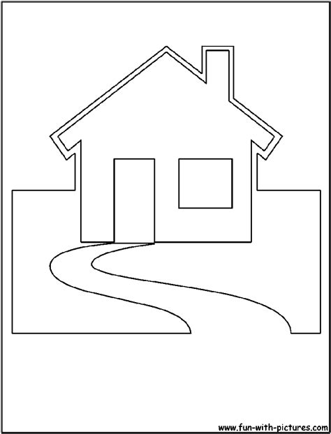 cut out house coloring page sketch coloring page