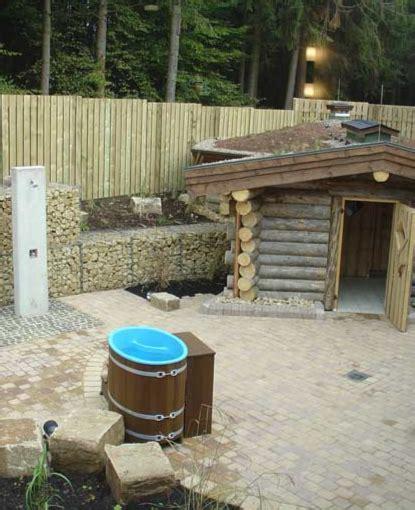 tauchbecken outdoor sauna tauchbottiche