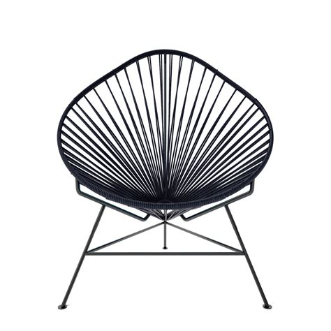 acapulco sessel acapulco chair black weave on black frame innit