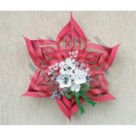 stelle di natale fiori fustella a4 stella di natale e fiori