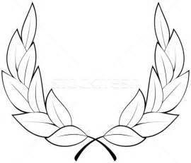 laurel leaf crown template vector laurel wreath vector illustration 169 mr vector