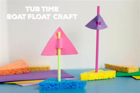 boat float foam tub time boat float craft video make and takes
