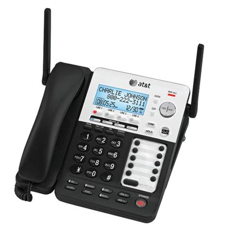 small business phone system at t synj sb67118 4 line extendable range corded cordless small business phone system bundle