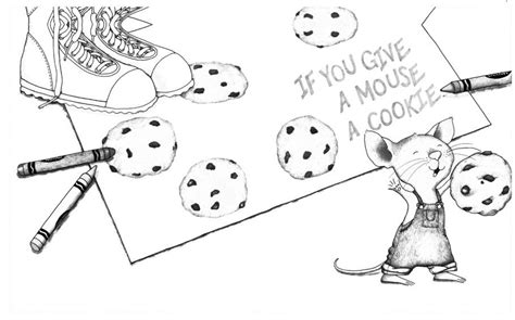 coloring page if you give a mouse a cookie if you give a mouse a cookie coloring pages free