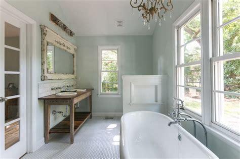 Beach House Chandelier Rustic Farmhouse Bathroom Ideas Hative