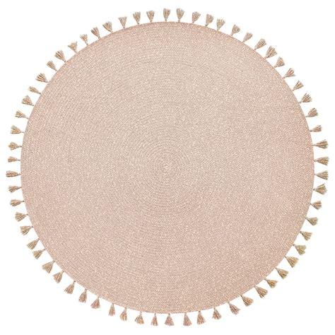 baumwollteppich rund nattiot geflochtener baumwoll teppich heloise puderrosa