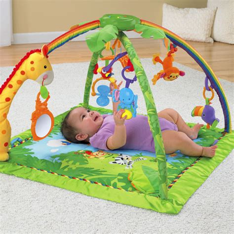 Rainforest Mat Fisher Price by Rainforest Melodies Lights Deluxe Gym