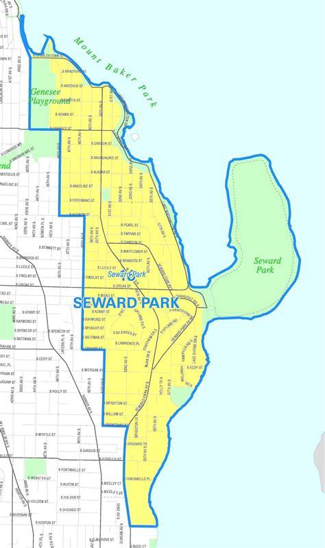 seattle parking zone map seward park map my