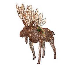 moose 60 inch lighted outdoor display outdoor decorations the home depot canada