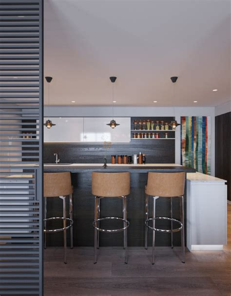 Interior Leather Bar Free by Themed Interiors Using Grey Effectively For Interior