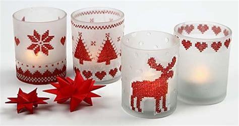 bicchieri natalizi fai da te portacandele natalizi fai da te