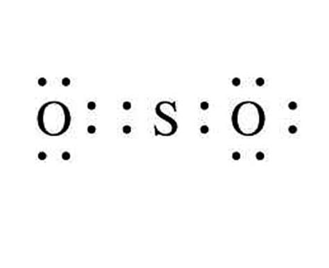 sulfur lewis dot diagram so2 lewis structure resonance images