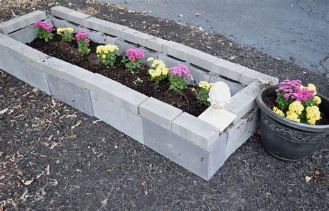 cinder block flower bed cinder block raised garden bed