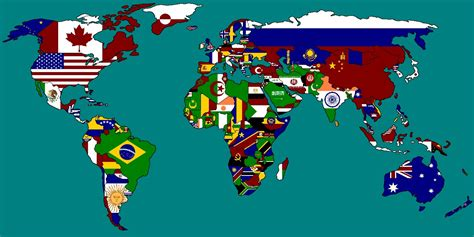 world map with country names and flags multi national flag maps multi national flag maps