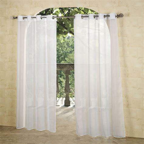 sheer panels curtains escape outdoor sheer grommet panels
