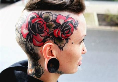 tattoo girl with books in head head tattoos designs ideas and meaning tattoos for you