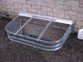heavy duty window well covers 45 quot x 26 quot sloped window well cover 11 quot radius clear