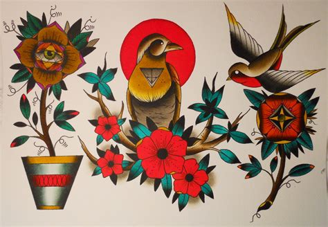 tattoo flash new traditional art by shamus january 2011