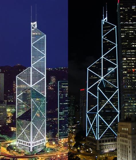 illuminating hong kong s bank of china tower 187 china urban