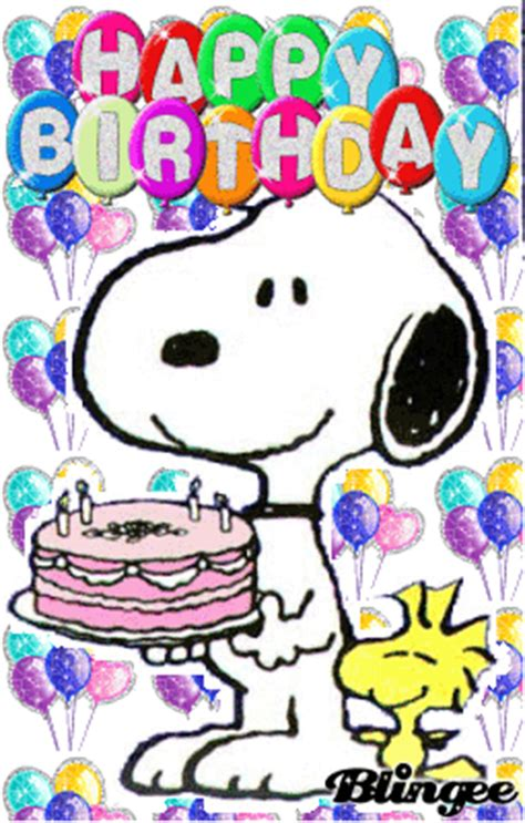 happy birthday images snoopy snoopy birthday picture 132126105 blingee com