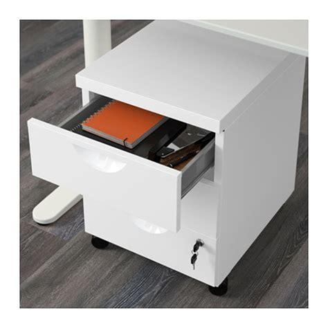 ikea erik rollcontainer erik drawer unit w 3 drawers on castors white 41x57 cm ikea