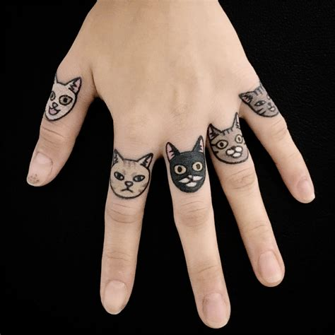 animal finger tattoos animal tattoos made endearing with minimalism by jiran