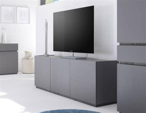 buffet tv laqu mat pas cher gris ou blanc 3 portes legos