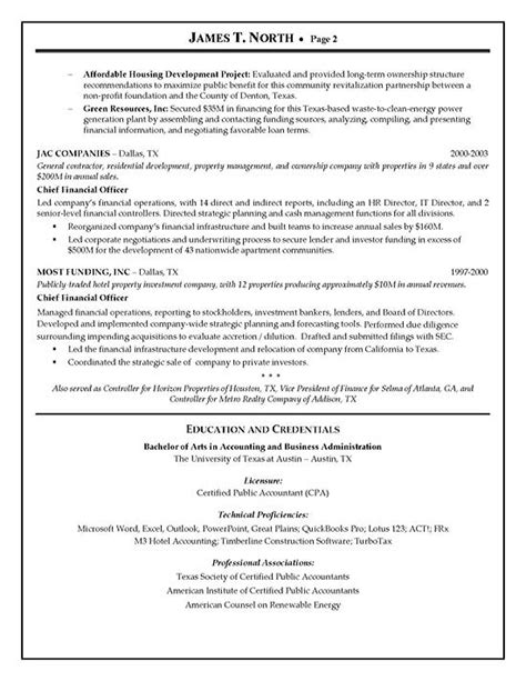 financial consultant resume exle