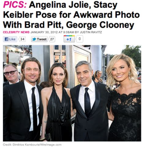 Brad Pitt George Clooney Do Entertainment Weekly by Keibler Quot Awkward Quot Sag Awards