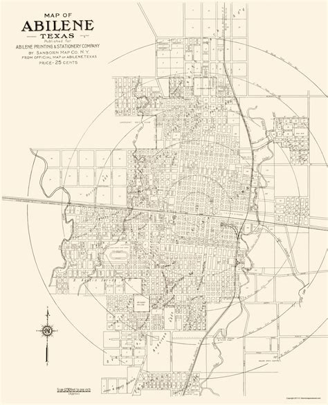 abilene map usa historic city maps abilene tx by sanborn map co 1929