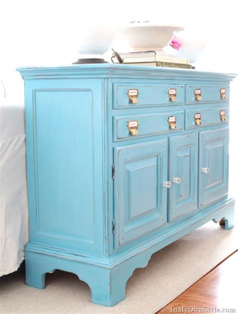 furniture paint before and after furniture makeover in turquoise in my
