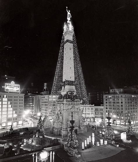 indianapolis monument circle christmas tree indianapolis then and now a hodgepodge of indianapolis historic indianapolis