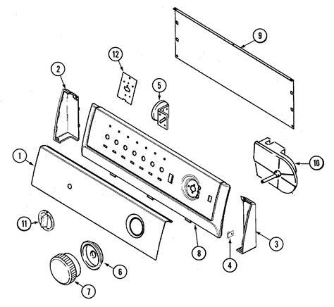 admiral washing machine parts diagram panel diagram parts list for model aav1200ajw