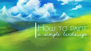 How To Make A Wall Paper - how to paint a simple landscape background in sai