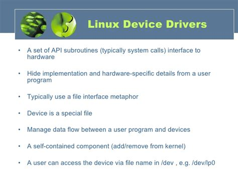 tutorial linux device driver linux device drivers basics pdf