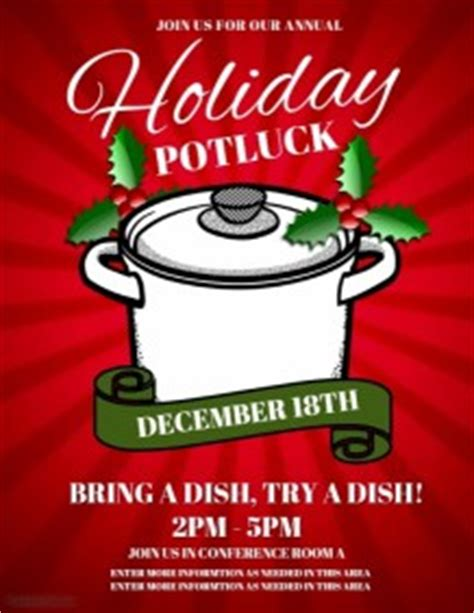 110 Customizable Design Templates For Potluck Postermywall Potluck Flyer Template