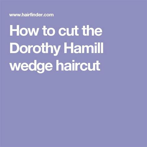 how to cut the dorothy hamill wedge haircut how to cut the dorothy hamill wedge haircut dorthy