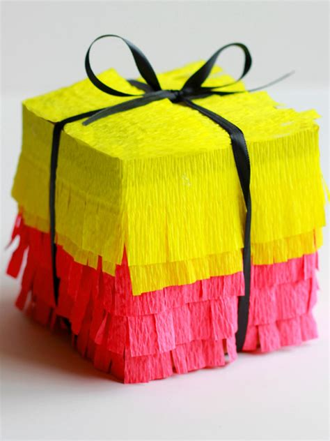How To Decorate A Pinata by How To Make Pi 241 Ata Style Gift Boxes How Tos Diy