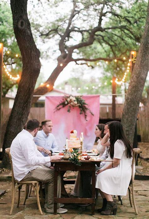 how to throw a backyard wedding how to throw an intimate backyard wedding 100 layer cake