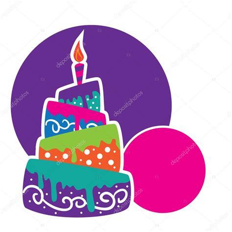 torta con candele torta con le candele sul compleanno vettoriali stock