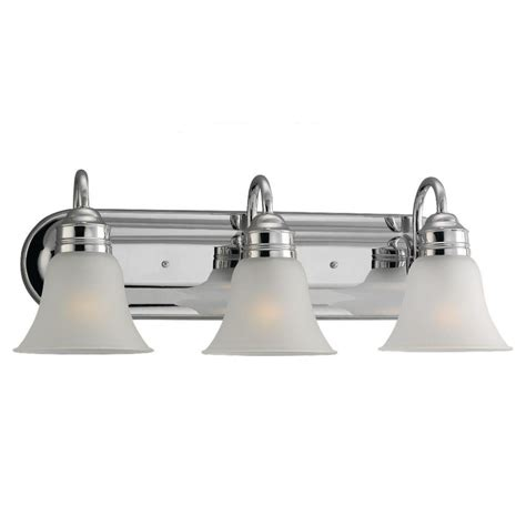 Chrome Vanity Lighting Bathroom Lighting The Home Depot Lights And Ls by Sea Gull Lighting Gladstone 3 Light Chrome Vanity Fixture 44852 05 The Home Depot