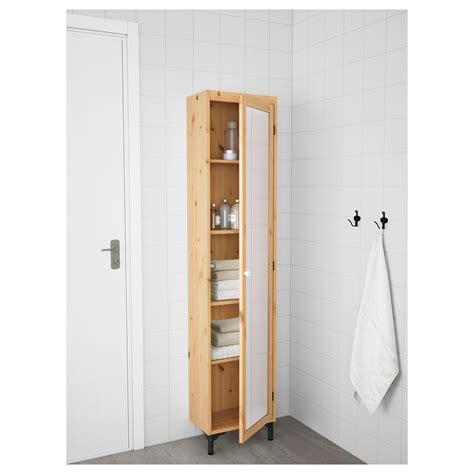 Silver 197 N High Cabinet With Mirror Door Light Brown The Door Mirror Cabinet