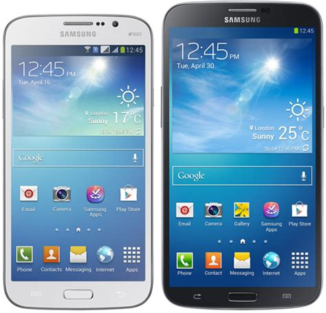 samsung  official   galaxy mega phones updated