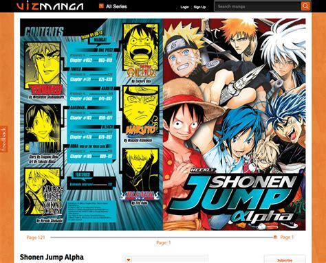 list of shonen jump shonen jump alpha hits web animation magazine