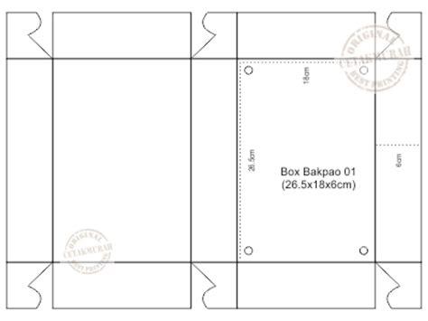 contoh design dus makanan www cetakmurah com box bakpao 01 26 5x18x6cm