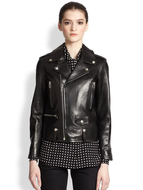 classic leather motorcycle classic leather jacket womens outdoor jacket