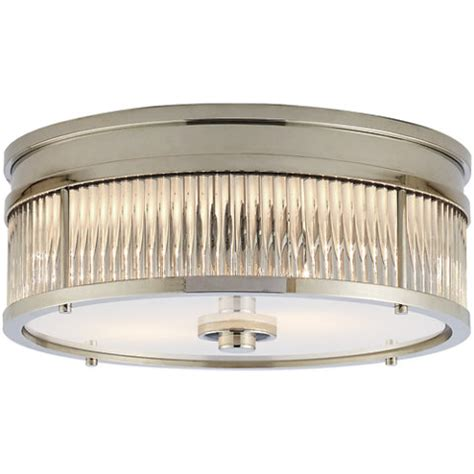 Low Profile Ceiling Light Fixtures Allen Low Profile Flush Mount In Polished Nickel Lighting Products Products Ralph