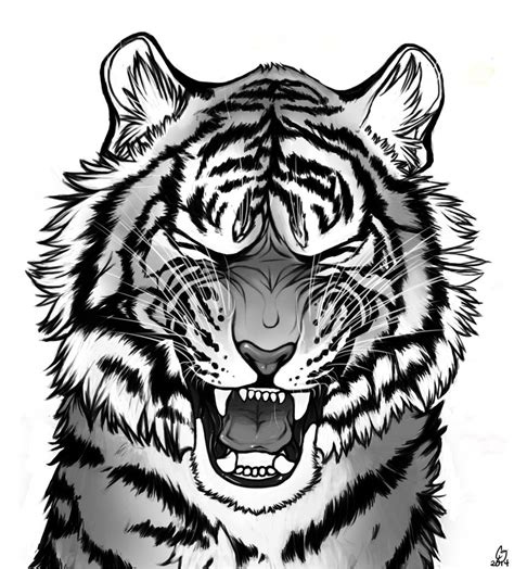tiger roar by darkmasterofdragons on deviantart