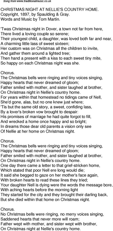 Nice Twas The Night Before Christmas Song Lyrics #2: 55-christmas-night-at-nellies-country-home.png